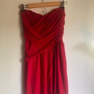 Express Strapless Wrap Dress